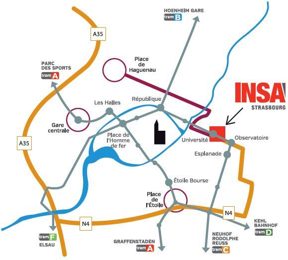 Accès à l'INSA Strasbourg | INSA Strasbourg